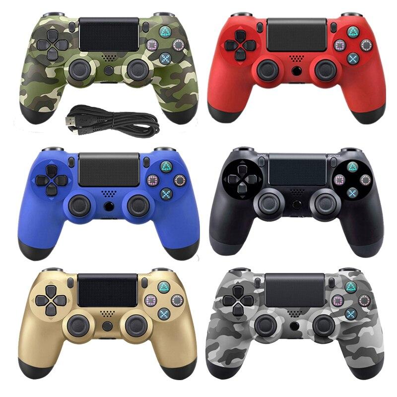 Doppel Shock USB Wired Controller Für PS4 Joystick Fit Für PC 2,2 M Kabel Für PS4/PS3 Konsole Für playstation Dualshock 4 Gamepad