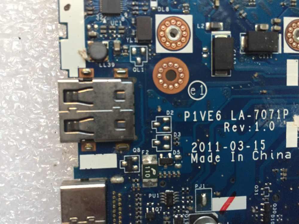 送料無料エイサー 1 AO722 722 ノートパソコンのマザーボード CPU オンボード LA-7071P P1VE6 マザーボード 100% テスト作業