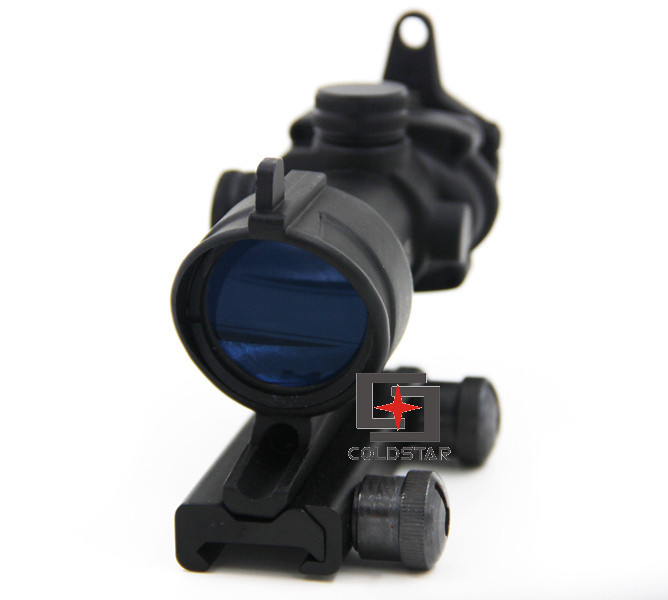 Airsoft Hunting Shooting Tactical Aim Red Dot Iron Optical Sight ACOG 4x32 Optical Rifle Scope Red / Green Reticle With Mount 4x 30mm red green mil dot reticle rifle scope with gun mount black 3 x ag13 1 x cr2032