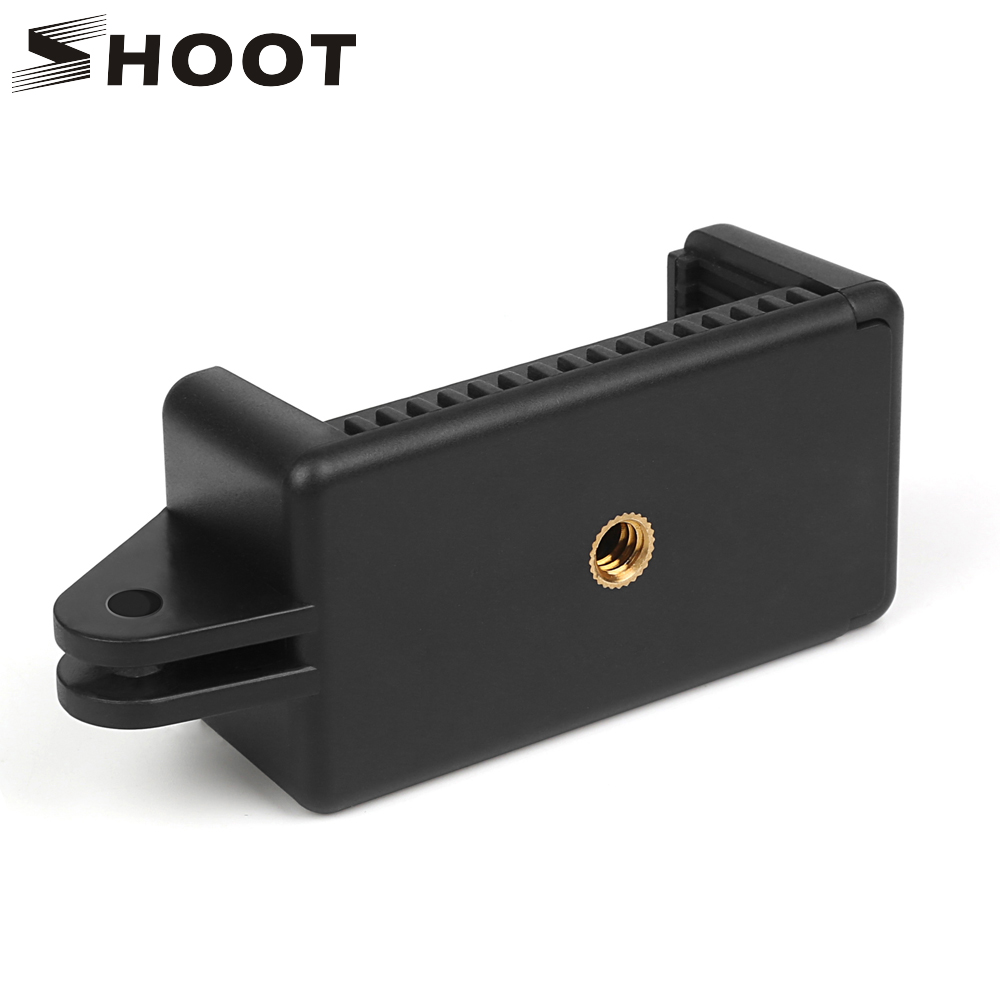 Mobile Phone Clip with 1/4 Screw Hole and Adapter Tripod Holder Mount for iPhone X 8 7 plus Xiaomi Note Redmi Samsung s6 Huawei