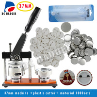Free Shipping 1 1 4 32mm Badge Machine With 1000set Pin Buttons Circle Cutter Button Making