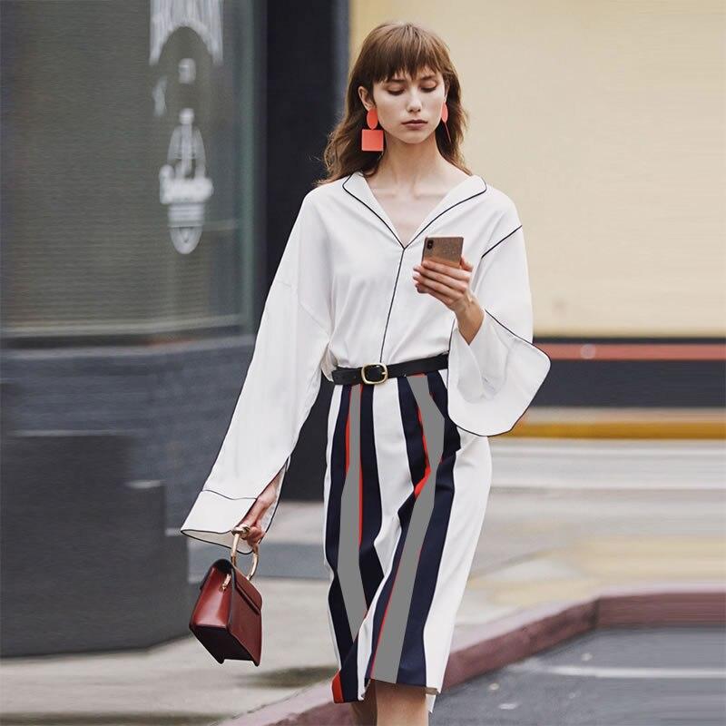 100% seide Crepe Shirt Reine Seide Crepe Blusen Frauen Shirts Büro Dame Shirts Neue Frühling und Sommer Stil - 3
