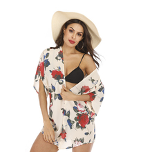 Sexy Beach Cover Up Floral Print Women Bikini Cover-ups Beachwear Female Swimsuit Dress Swimwear Tunic