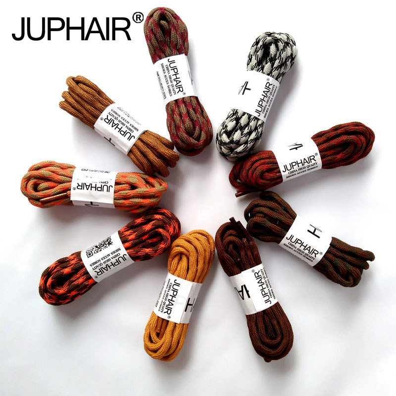JUP 1-50 Pairs Orange Brown Round Sport Shoelaces Climbing Hiking Bootlace Brand Shoe Laces Outdoor Sneaker Shoetring