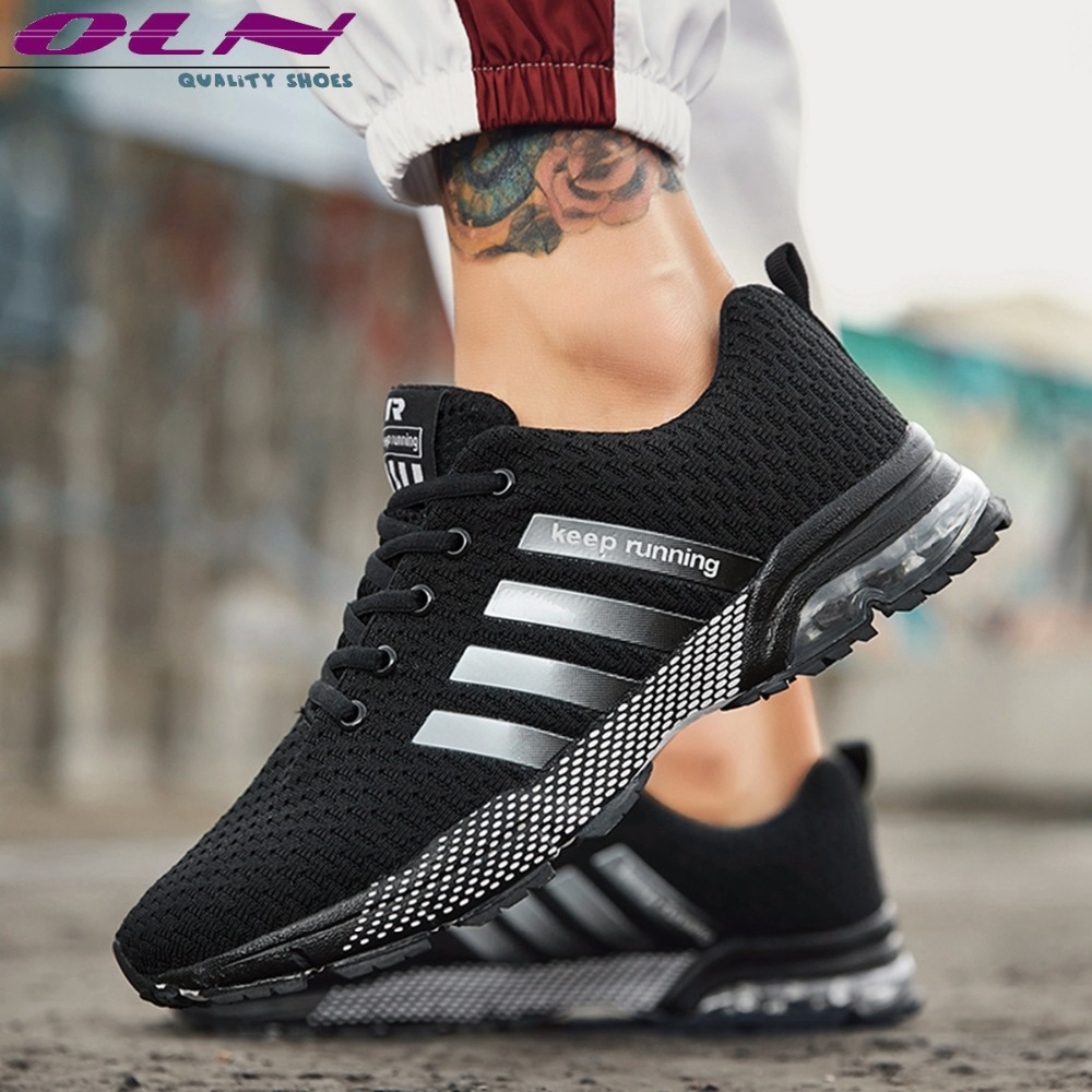 OLN Hot Casual Chaussures Hommes 2018 Flyknit Hommes Runing Sport Randonnée Quatre Cylindre Coussin D'air Chaussures Dentelle Up Escalade Bottes plus la Taille