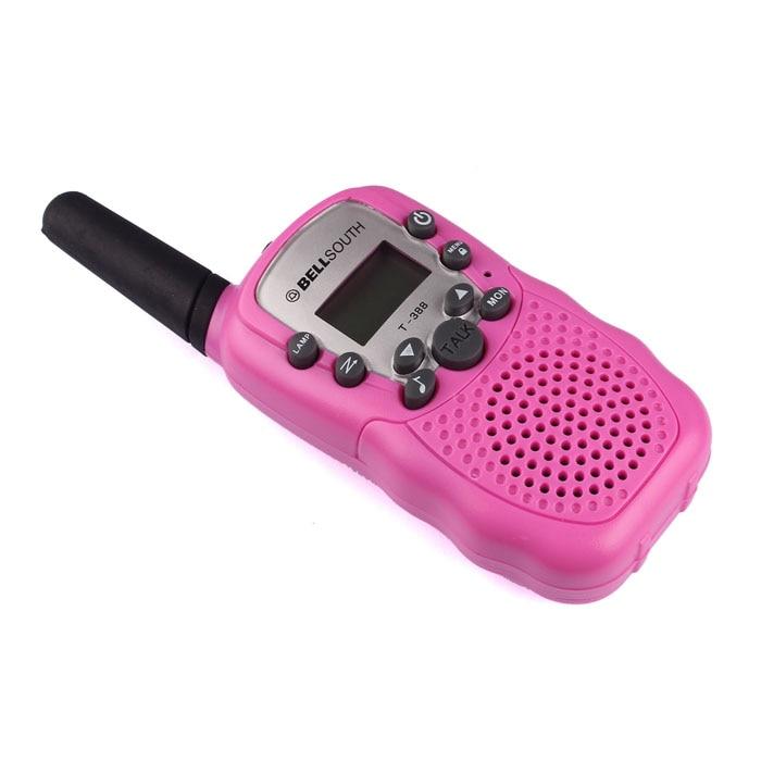 2pcs Portable Wireless Walkie-talkie Set Eight Channel 2 Way Radio Intercom 5KM Travel Hot Pink 17Sept28