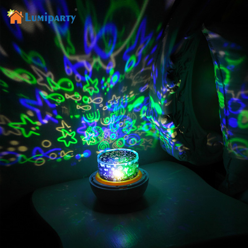 LumiParty Portable Magic Project Lamp Diamond Shape Color Changing LED Star Projector For Kids Children Christmas Gifts jk30
