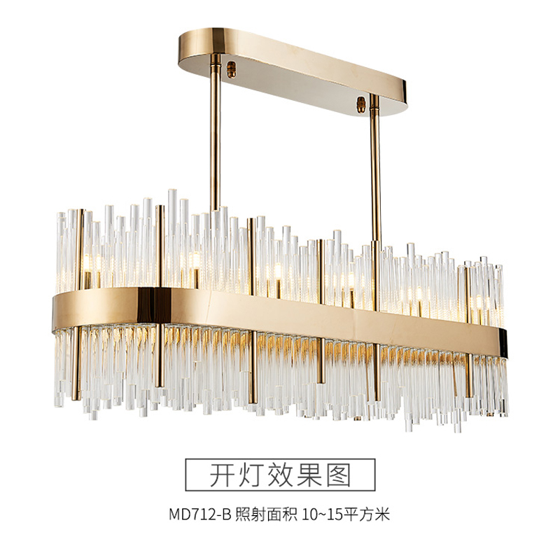 gold crystal chandeliers light dinning room led crystal and pendants