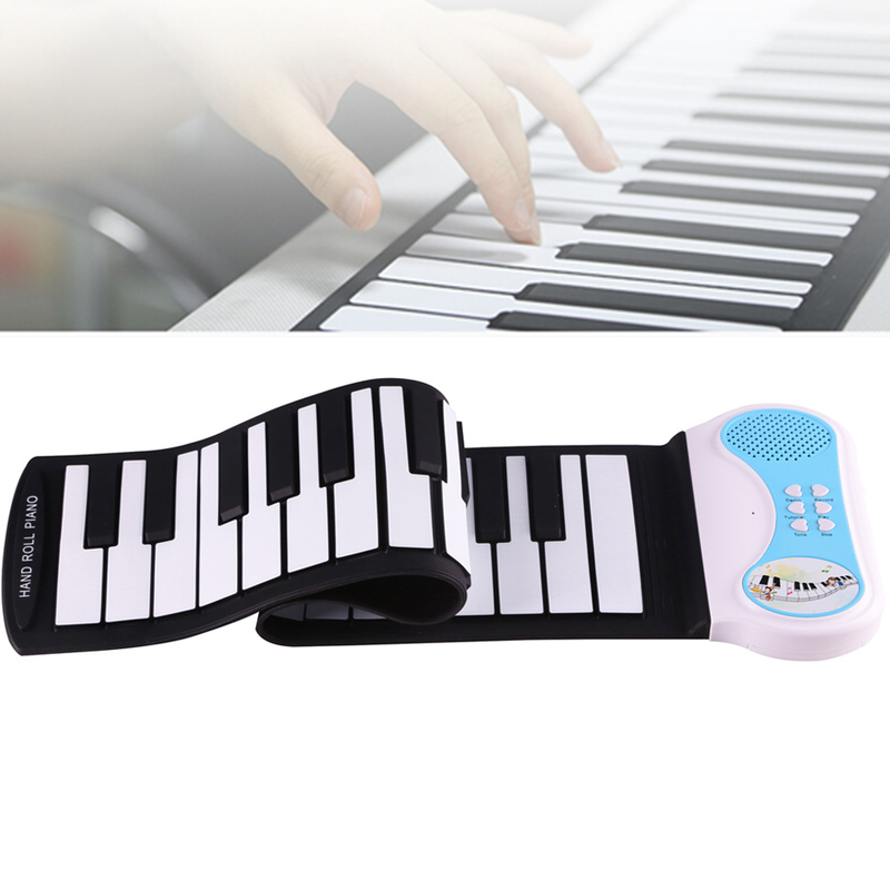 Professional Roll Up Piano 37 Keys Silicon Flexible Hand Soft Portable Electronic Keyboard Organ Music Gift for Children Student