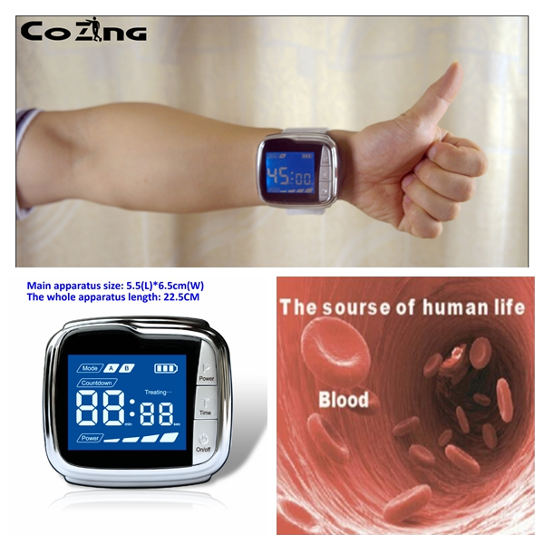 650nm laser diode lighting led blood irradiation machine to reduced laser therapy high blood pressure and idabetes therapy laser machine 650nm laser diode laser therapy watch wrist type laser