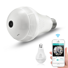 BESDER 3MP 2MP 1.3MP 360 Degree Wireless IP Camera Bulb Light Audio FishEye 3D VR Panoramic Home CCTV Security WiFi Camera iCSee(China)