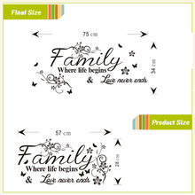 love family quotes wall stickers decorations