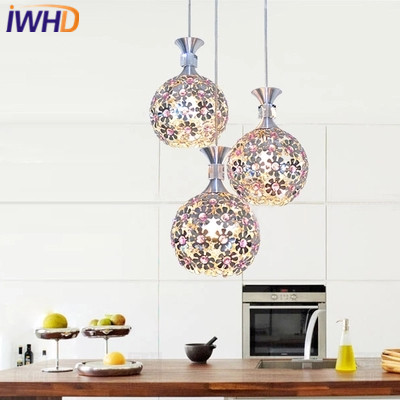 IWHD Sing Heads Pendant Lamp Moddern Fashion Crystal Led Hanging Lights Creative Aluminum Dining Room Kitchen Luminaire a1 master bedroom living room lamp crystal pendant lights dining room lamp european style dual use fashion pendant lamps