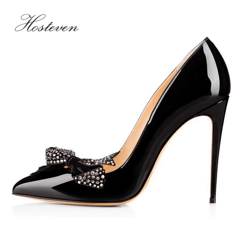 Hosteven Women's Shoes Pumps Butterfly Pointed Stiletto