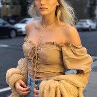 Heyouthoney sweet off shoulder ruffle blouse shirt Casual loose pleated short sleeve shirt women tops summer beach white bluas