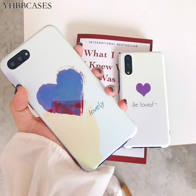 YHBBCASES Blu-ray Red Heart Phone Case For Huawei P20 Pro Mate 10 20 Soft Cover Honor 9 10 Nova 3 3e Cartoon English Loved Cases