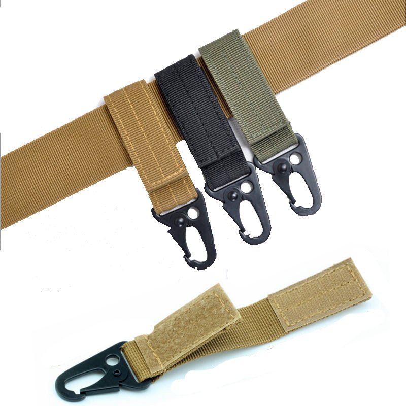 Molle Strap Bushcraft Hang Quickdraw Belt Clip Kit Travel Bag Attach Carabiner Clasp Outdoor Webbing Camp Tactical Backpack
