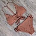 De las mujeres Extraíble Acolchado Bikini Floral de Impresión Inferior del traje de Baño de Verano Traje de Baño Bikini Set maillot de bain Biquini
