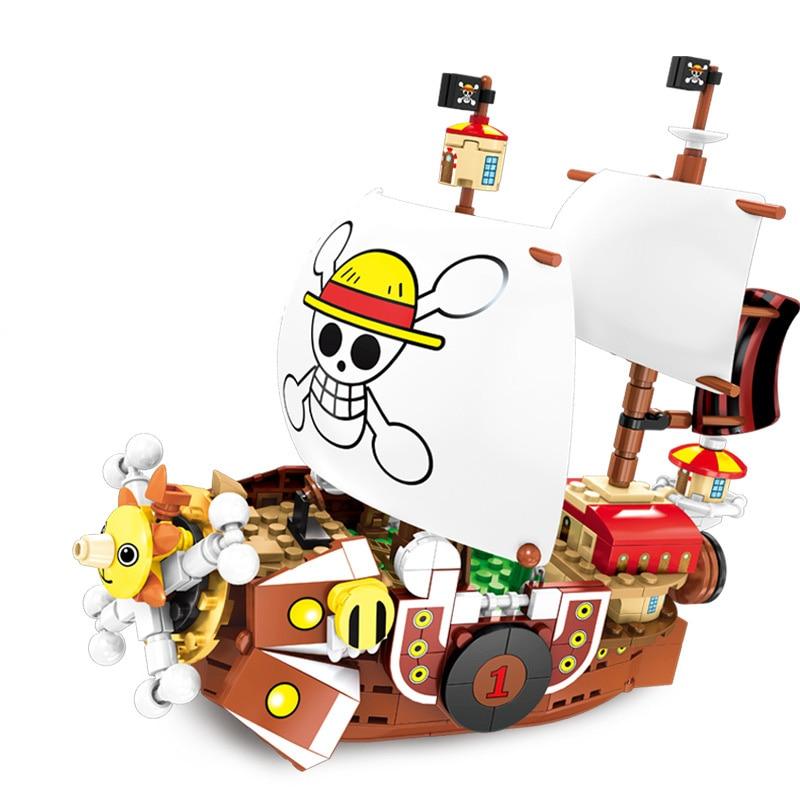 IOW Natural ประกอบเรือโจรสลัดชุดเด็กอาคารบล็อกอิฐของขวัญใช้งานร่วมกับ States