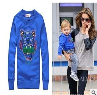 a7e7e6e1 The new fashion women's black aristocracy new KENZO2 tiger fleece sweater  children