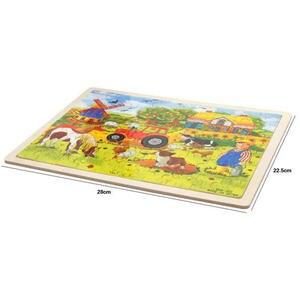 Image 4 - 60 pcs Cartoon עץ צעצועי 8 סגנונות 3D עץ פאזל פאזל עבור ילד חינוכיים צעצוע