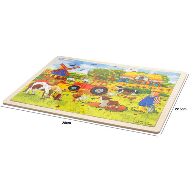 Image 4 - 60pcs Cartoon Wooden Toys 8 STYLES 3D Wooden Puzzle Jigsaw Puzzle for Child Educational Toy-in Puzzles from Toys & Hobbies