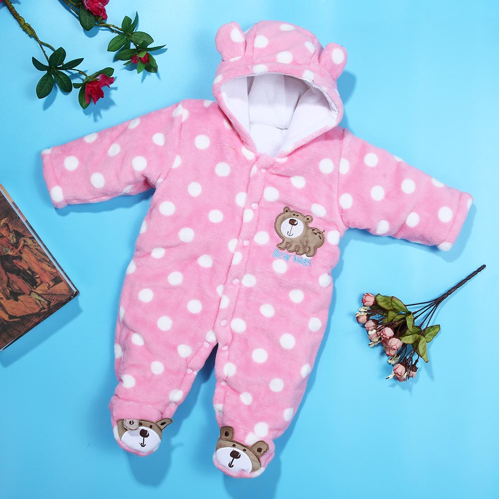 где купить Cartoon Coral Fleece Newborn Baby Romper Costume Baby Clothes Animal Overall Menina Winter Warm Longsleeve Baby Rompers Jumpsuit по лучшей цене