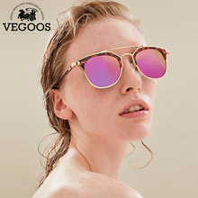 VEGOOS Luxury Brand New Design Polarized Sunglasses Women Sun Glasses Half  frame Cat Eye Style New Collection #2188