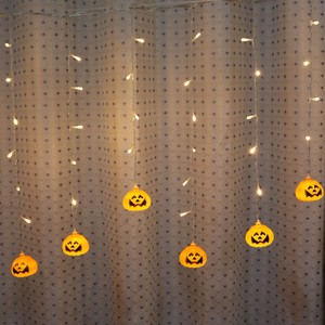 Image 2 - Feimefeiyou 3.5 متر 96 المصابيح صدفي led اليقطين الجنية أضواء LED الستار سلسلة أضواء داخلي ديكور الحفلات led قطاع