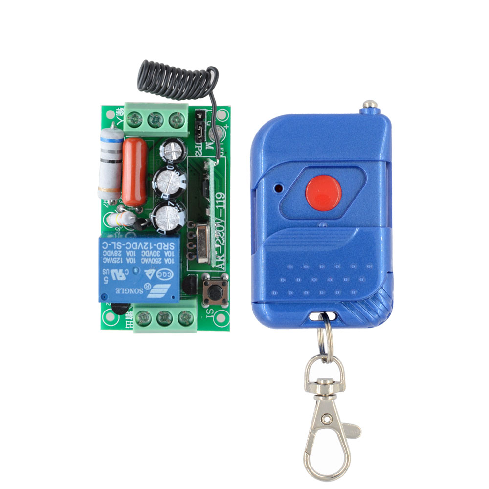 AC 220V 1CH RF Relay Smart Wireless Remote Control Light Switch Transmitter with One Relay Receiver sexy temptation to 18 centimeters nightclub high heeled shoes catwalk show reception appeal colourful shoes dance shoes