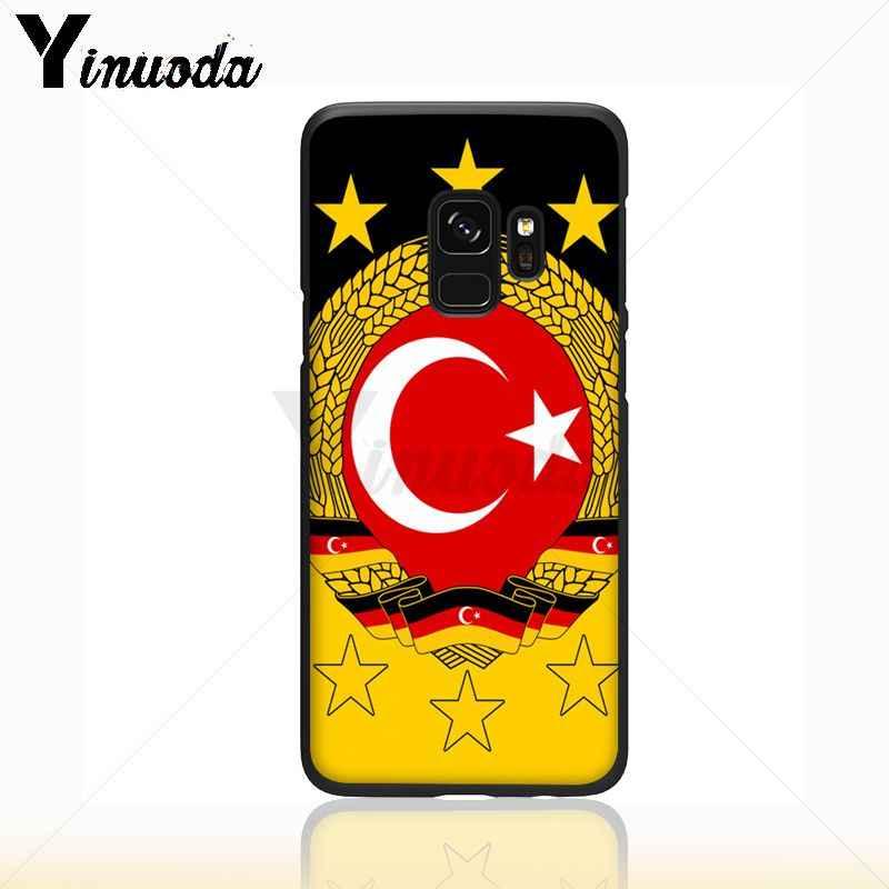 Yinuoda العلم من اسطنبول تركيا الذئب رسمت الهاتف اكسسوارات حقيبة لهاتف سامسونج غالاكسي s9 s8 زائد ملاحظة 8 note9 s7 S10lite غطاء