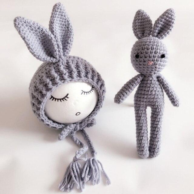€ 17.34 |¡ Nuevo! recién nacido Juguete Conejo y Capo de Vestuario de Punto  Conejo del casquillo del sombrero gorrito de bebé y conjunto de ...