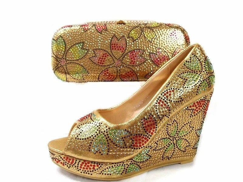 ФОТО Italian Matching Shoe And Bag Set African Wedding Shoe And Bag Set Italy Shoe And Bag Set Women High Heels Shoes june02