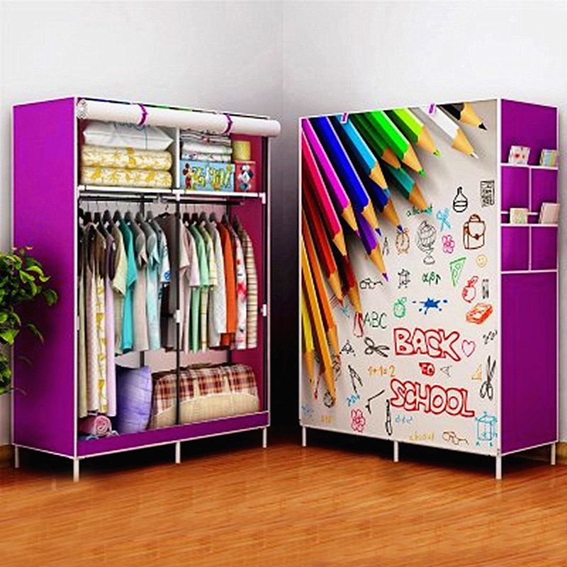 Us 3661 10 Offdiy Assamble Einfachen Klapp Verstärkung Tragbare Kleidung Schrank Schrank Stoff Kleidung Lagerung Organisieren In Diy Assamble