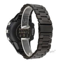 Wymiana paska zegarka ze stali nierdzewnej Gengshi dla Suunto Ambit1 2, 3, 2 S, 2R,, Ambit 3 Sport, 3 biegi, 3 szczyt.