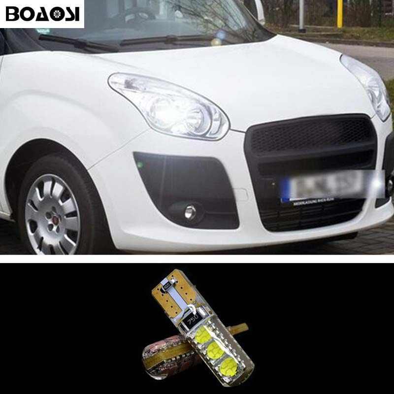 BOAOSI 1x T10 W5W 5050SMD Error Free LED Canbus Clearance Light For FIAT 500 Punto Stilo Palio Freemont Bravo Ducato Doblo 2pcs brand new high quality superb error free 5050 smd 360 degrees led backup reverse light bulbs t15 for jeep grand cherokee