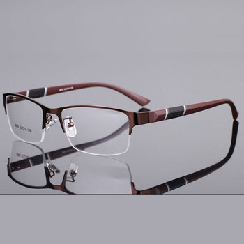 Half Rim Alloy Prescription Glasses Flexible Plastic TR-90 Temple Legs Optical Myopia Prescription Eyeglasses Frame 8850