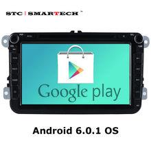 Smartech 2 DIN Android 6.0.1 dvd-плеер GPS навигация для VW Passat B6 Гольф 5 поло JETTA SKODA Авторадио Поддержка может-bus