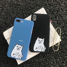 Zagter Cute Cartoon Cat Ultra Thin Phone Case For iphone 7 6 6S 8 Plus X 11 pro Funny Animal over