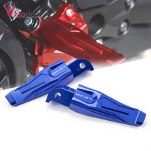 цена на One Pair CNC Aluminum Motorcycle Foot Pegs Pedals Rear Passenger Footrests For Yamaha MT07 MT 07 MT-07 2014 2015 2016 2017 2018