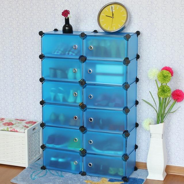 DIY 6 Layer Double Row  Shoe Rack creative Modern Multi-Purpose Shoe Cabinet