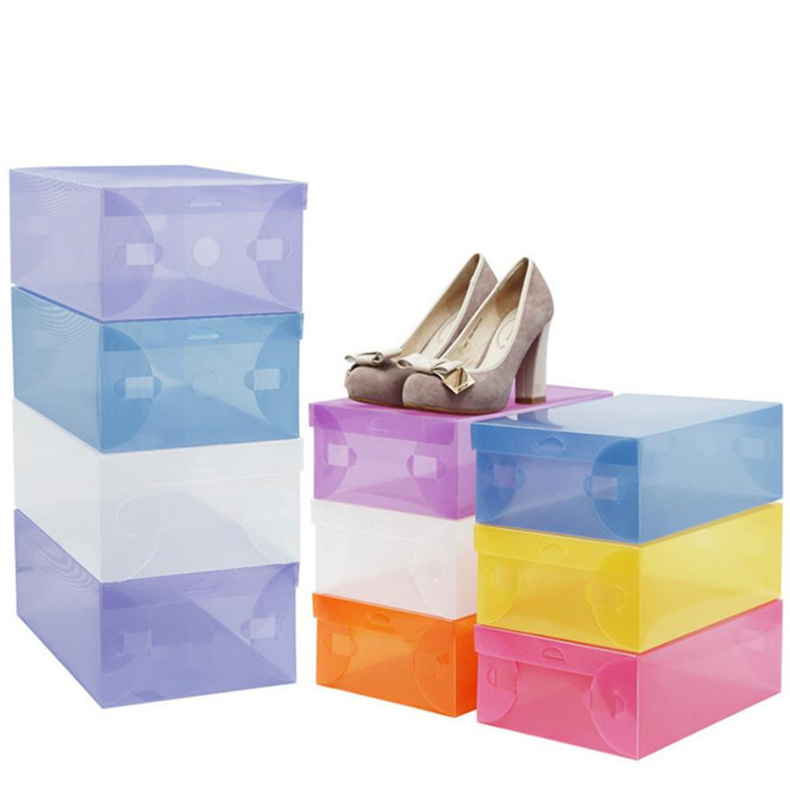 Exceptionnel New 1pc Foldable Plastic Shoe Boxes Organizer Storage Stackable Tidy Box  Shoe Storage Boxes Shoes Hanger Organizer Shoe Rack 34