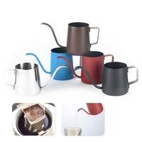 Cafetera de boca larga de 250ml/350ml  tetera surtidor largo  tetera de acero inoxidable para el hogar