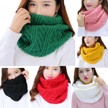 Fashion Knitted Imitation Cashmere Ring Scarf for Women Soft Acrylic Winter Infinity Scarves Ladies Warm Snood Scarf Чокер