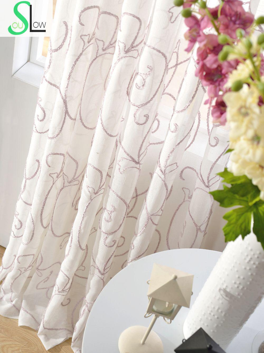 Айви крест дриблинг вышивка Шторы французское окно завод Шторы s для Гостиная тюль и Кухня вышитые Sheer Спальня