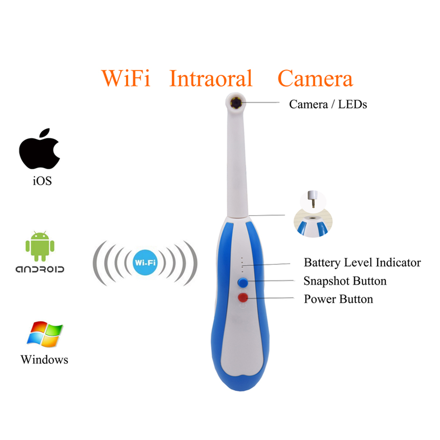 WiFi Intraoral 960P Camera with 150X Magnification 360 Degree Rotation Free App for Android/iOS/Windows System IP67 WaterproofWiFi Intraoral 960P Camera with 150X Magnification 360 Degree Rotation Free App for Android/iOS/Windows System IP67 Waterproof