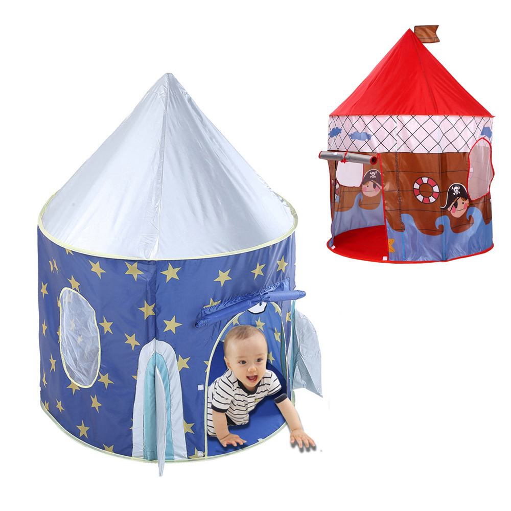 Folding Play Toy Tent Castle for kids Baby play house Ocean Ball Pool Tent Children Rocket Space Pirate ship Game play Tent Tipi