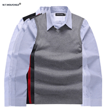 Mens vest 2017 men's new spring style V-neck sleeveless sweaters casual 100% cotton mens clothing slim mens sweater tops M-3XL