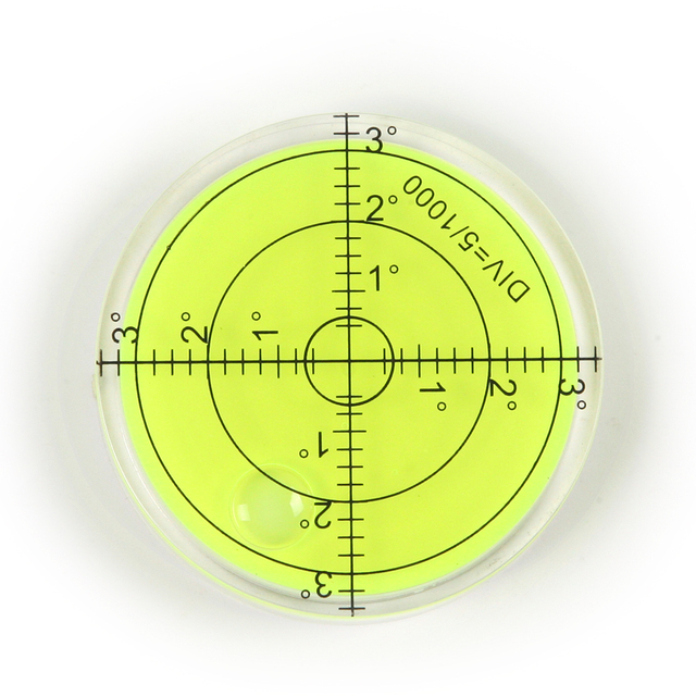 Universal Green Round 60mm Spirit Level Bubble mini Bullseye Level Bubble for tripod furniture frame Meauring Instrument tool