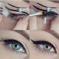 2 stücke Pro Eyeliner Schablone Kit Modell für Augenbrauen Guide Vorlage Gestaltung Werkzeuge Lidschatten Make-Up-Tools Augenbrauen Vorlage Karte